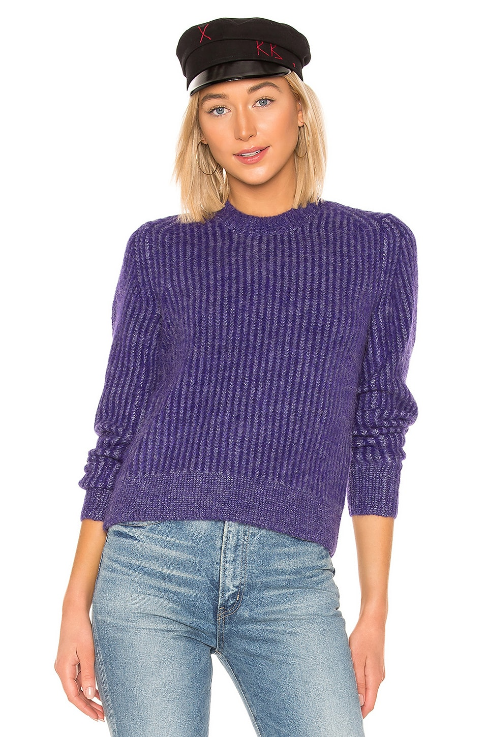 Rag & Bone Jonie Crew Neck Sweater in Purple