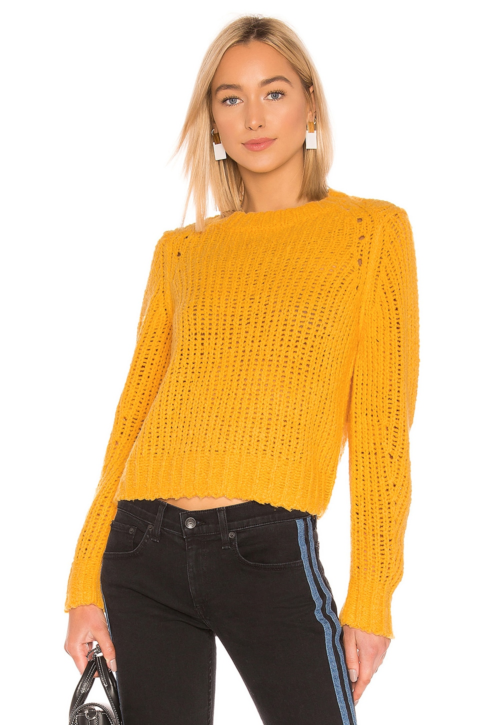 Rag & Bone Arizona Crew Neck Sweater in Gold