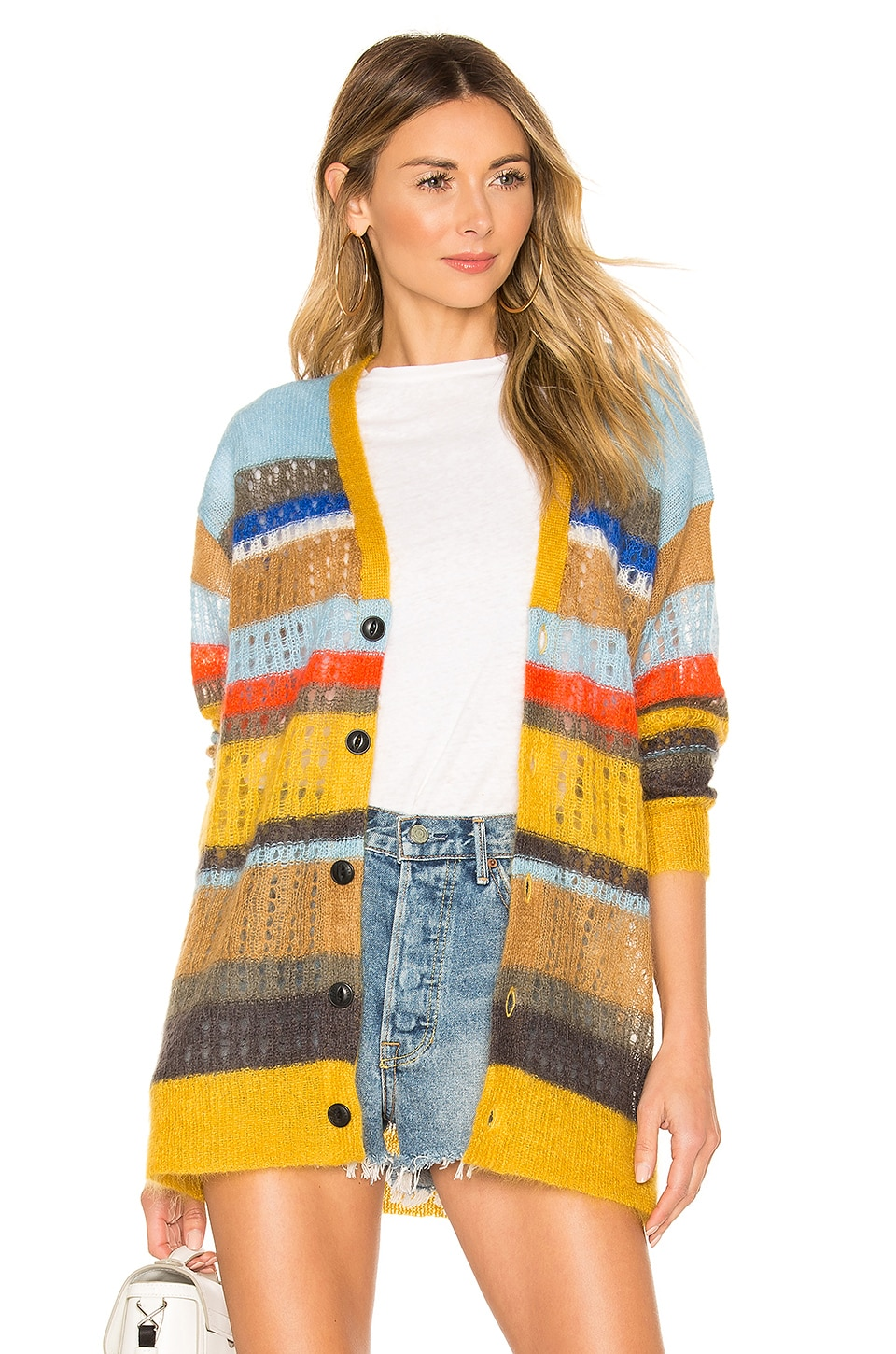 Rag & Bone Nassau Cardigan in Yellow