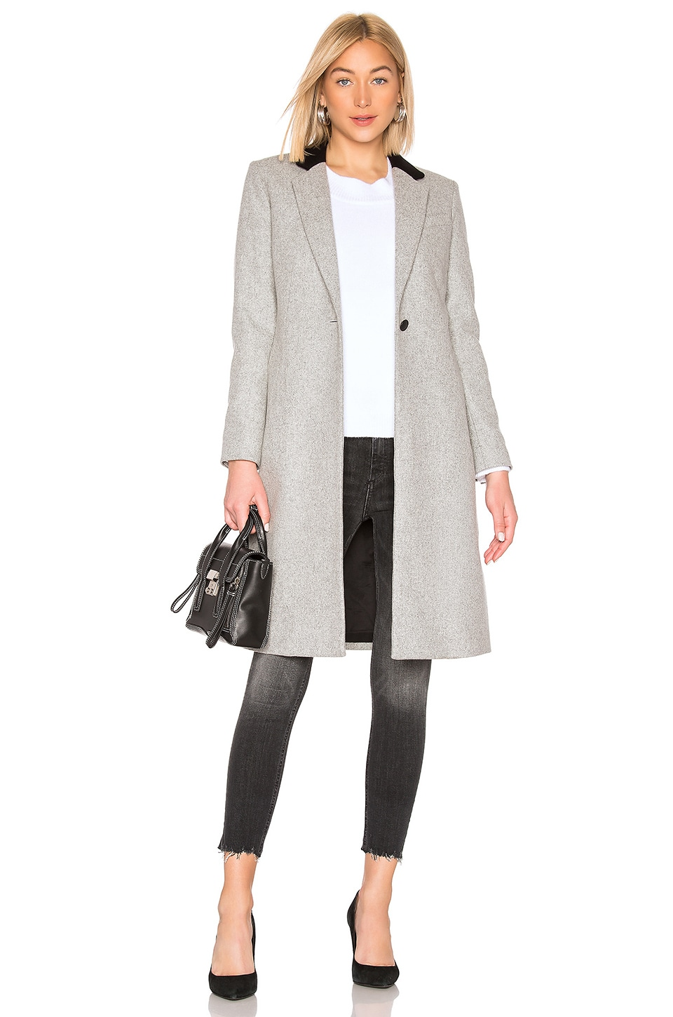 Rag & Bone Daine Coat in Light Heather Grey