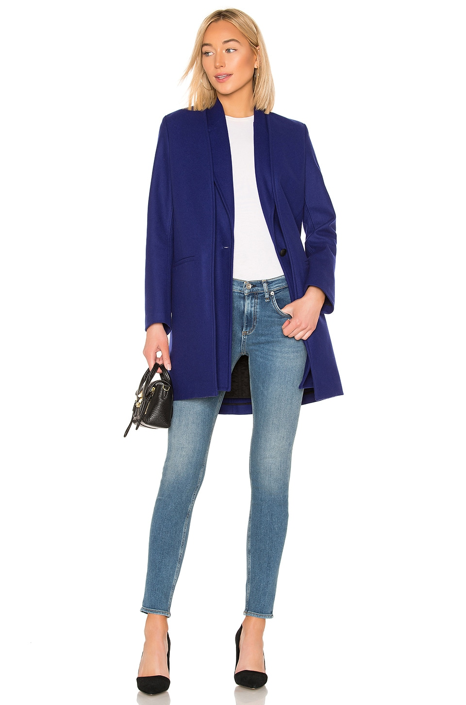 Rag & Bone Kaye Coat in Bright Blue