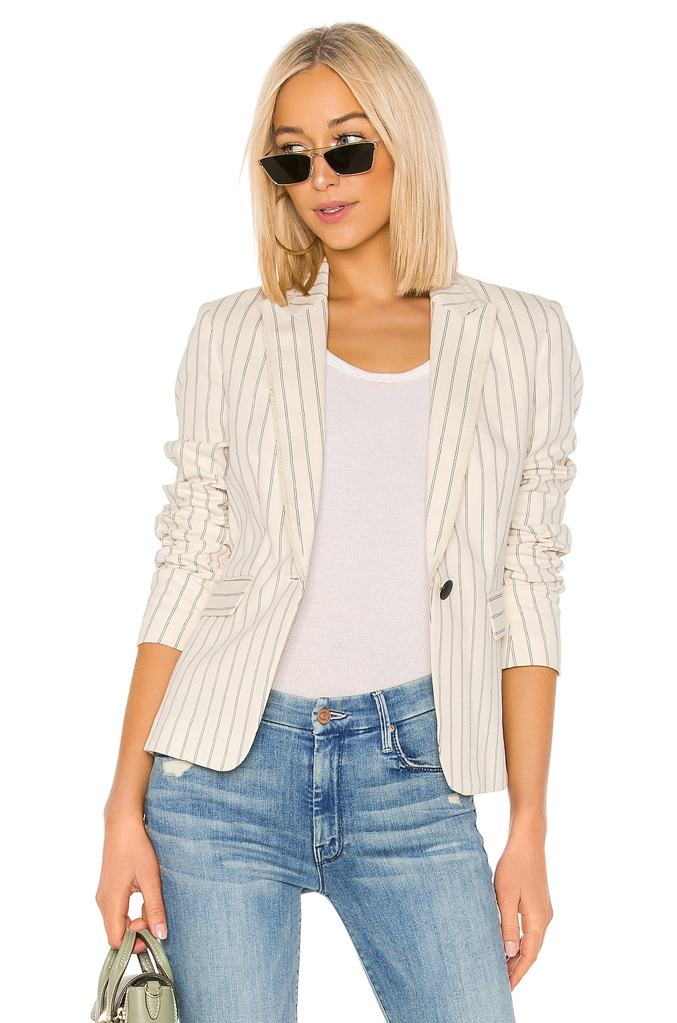Rag & Bone Millie Blazer in Ivory & Black