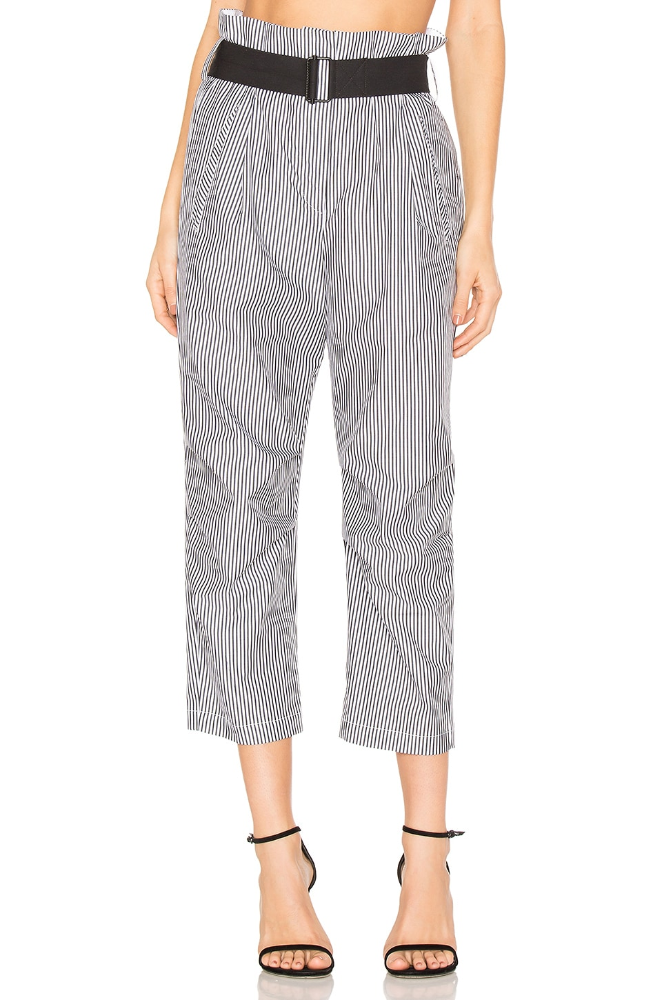 Rag & Bone Bosworth Pant in Black Stripe
