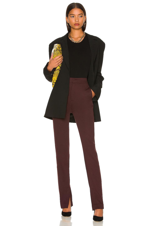 Rag & Bone Joan Slim Pant in Heather Burgundy