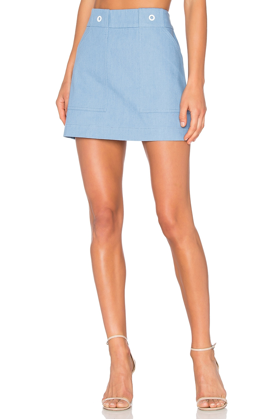 Rag & Bone Wades Skirt in Pale Blue