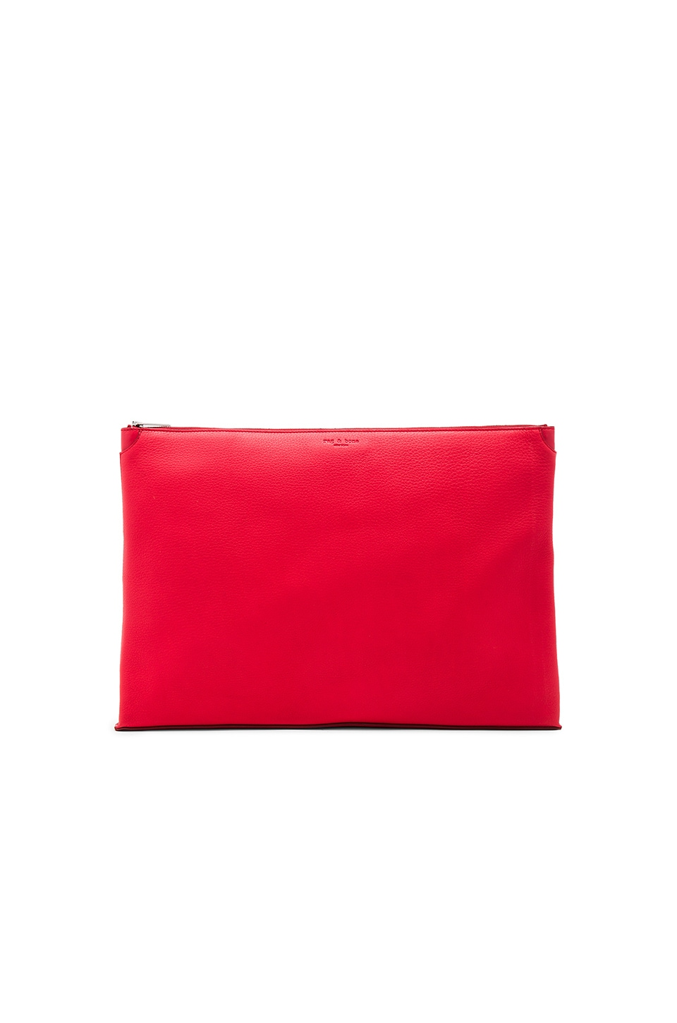 Rag & Bone Large Pouch in Crimson