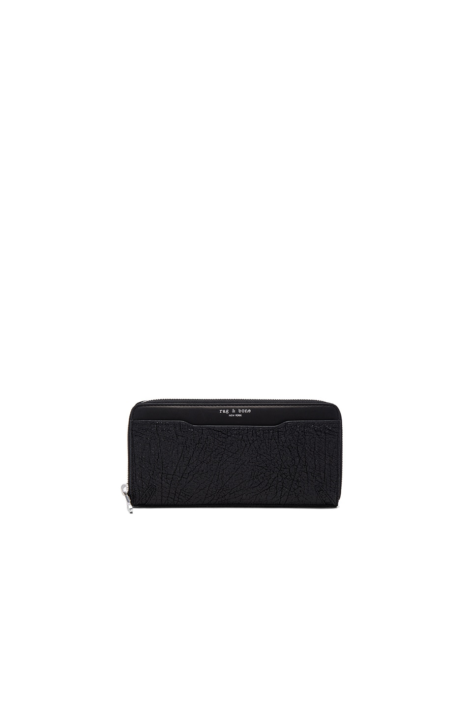 Rag & Bone Crosby Continental Wallet in Black Crackle