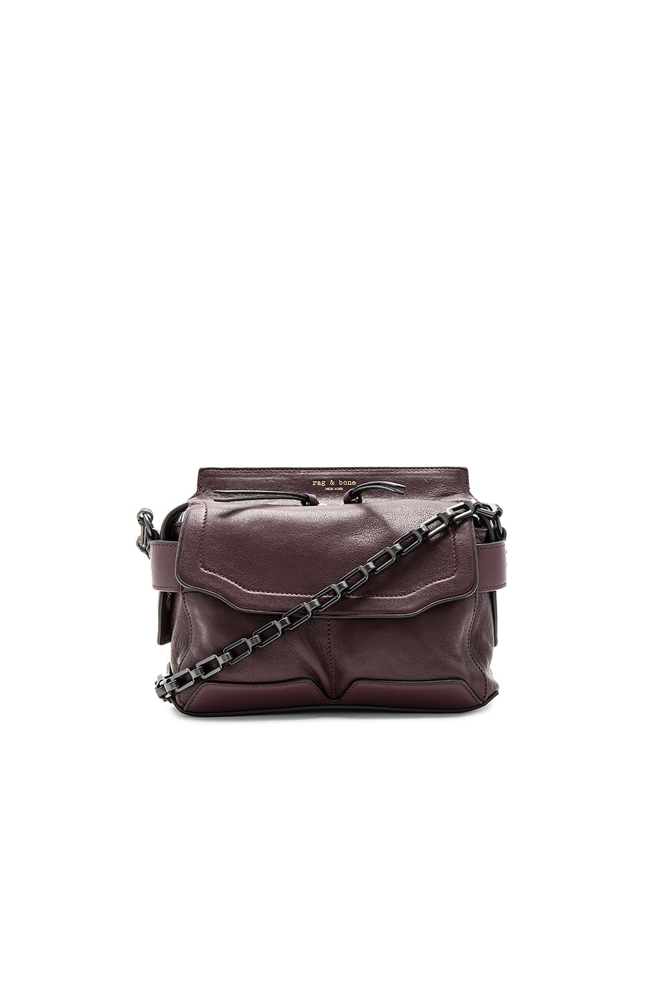 Rag & Bone Micro Pilot Satchel in Bordeaux