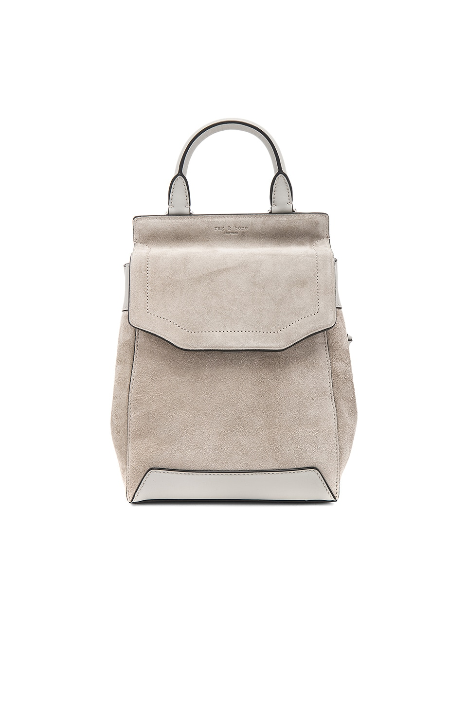 Rag & Bone Small Pilot Backpack in Cemento Suede