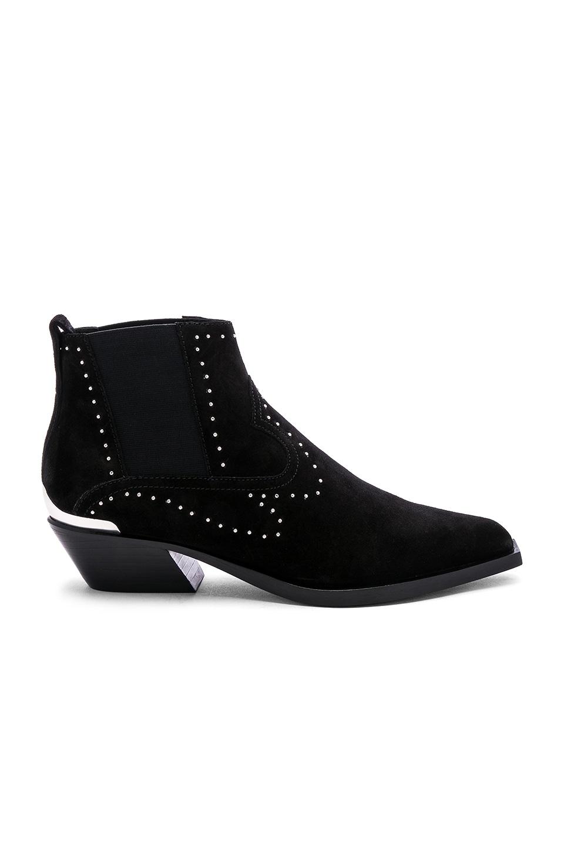 Rag & Bone Westin Boot in Black Suede Stud