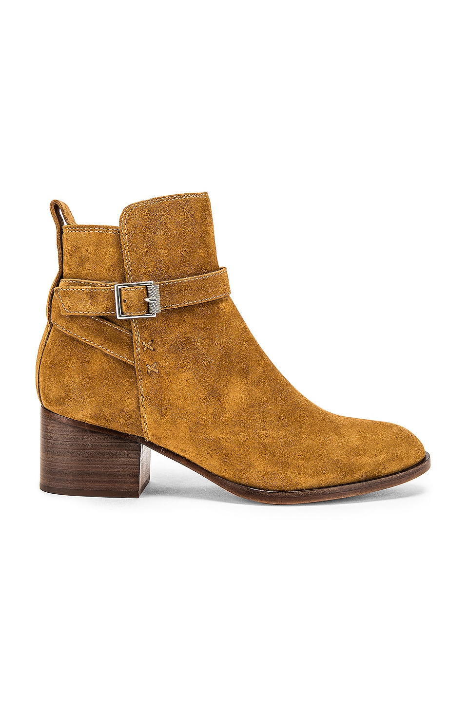 Rag & Bone Walker Buckle Bootie in Golden Brown