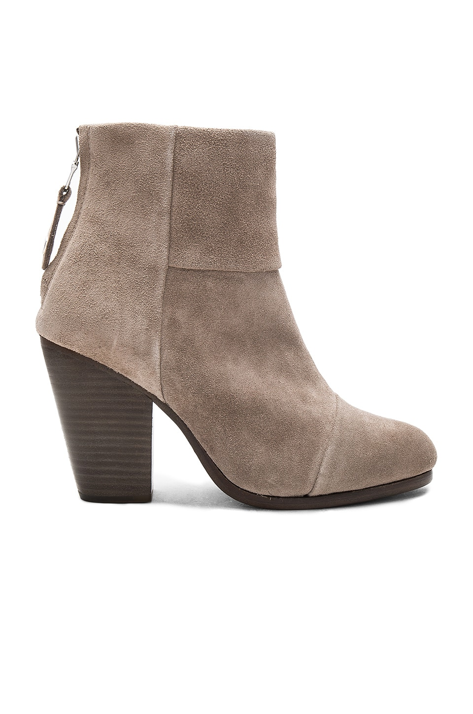 Rag & Bone Classic Newbury Bootie in Warm Grey Suede