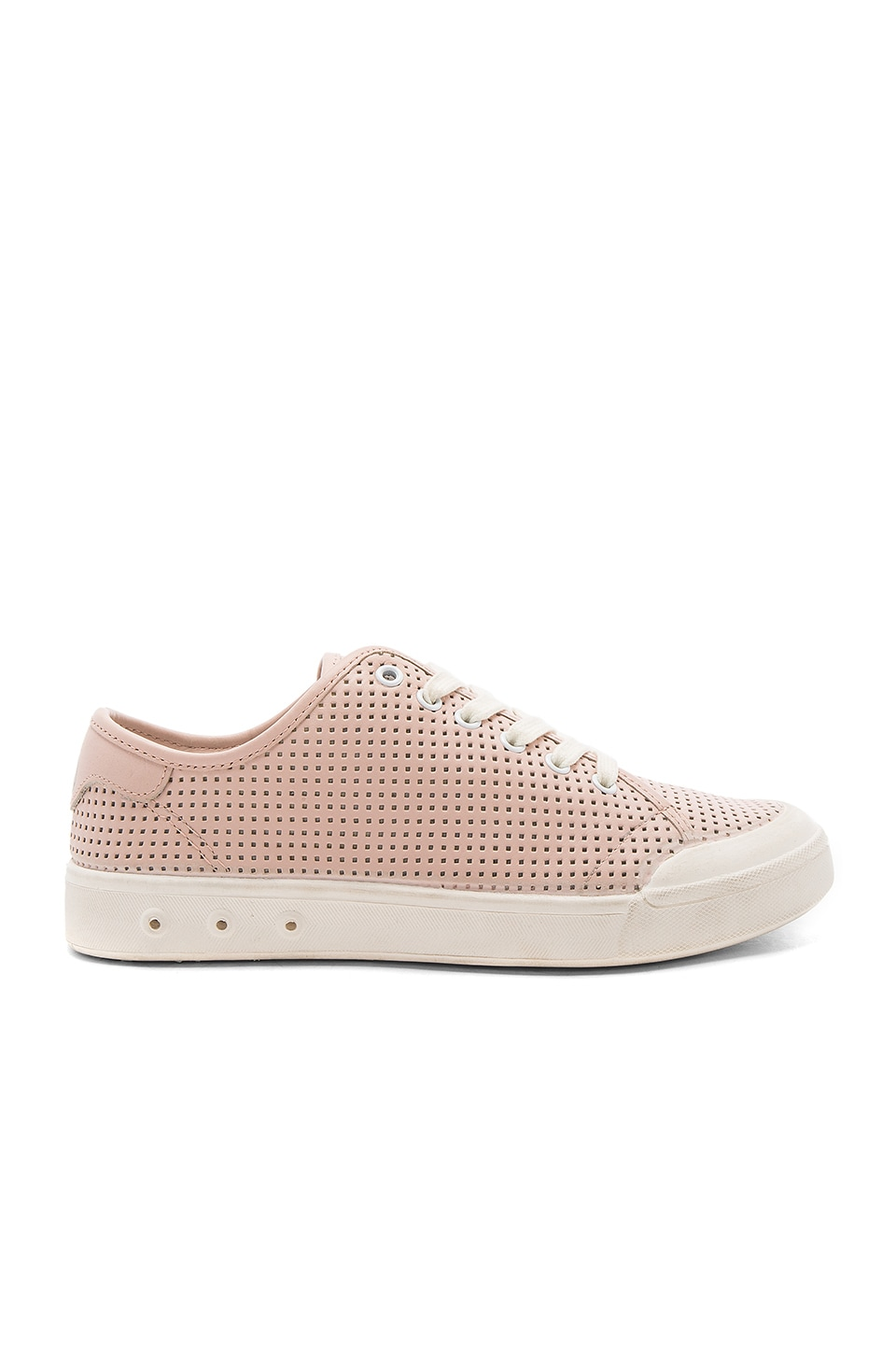 Rag & Bone Standard Issue Lace Up Sneaker in Pink Perforated