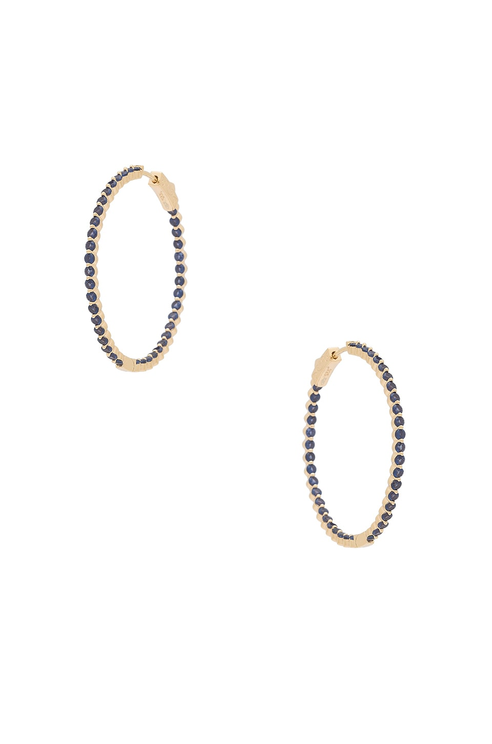 Ragen Small Blue & Gold Hoops in Blue
