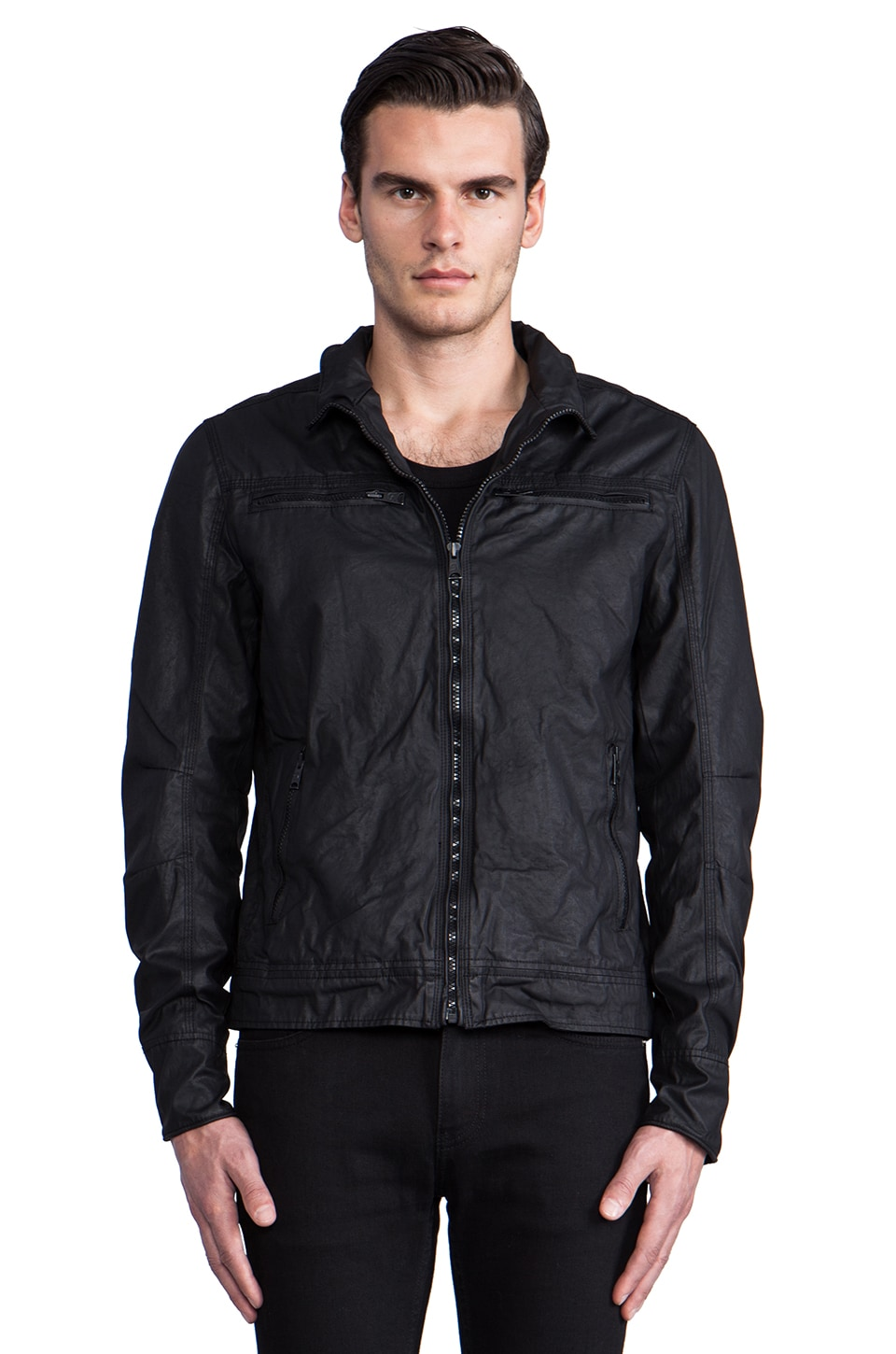 Rogue Waxed Jacket in Black