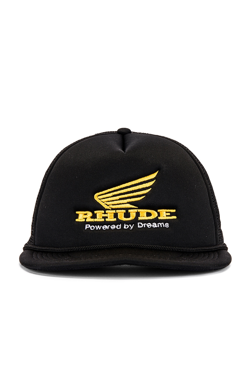Rhude Rhonda Trucker in Black & Yellow