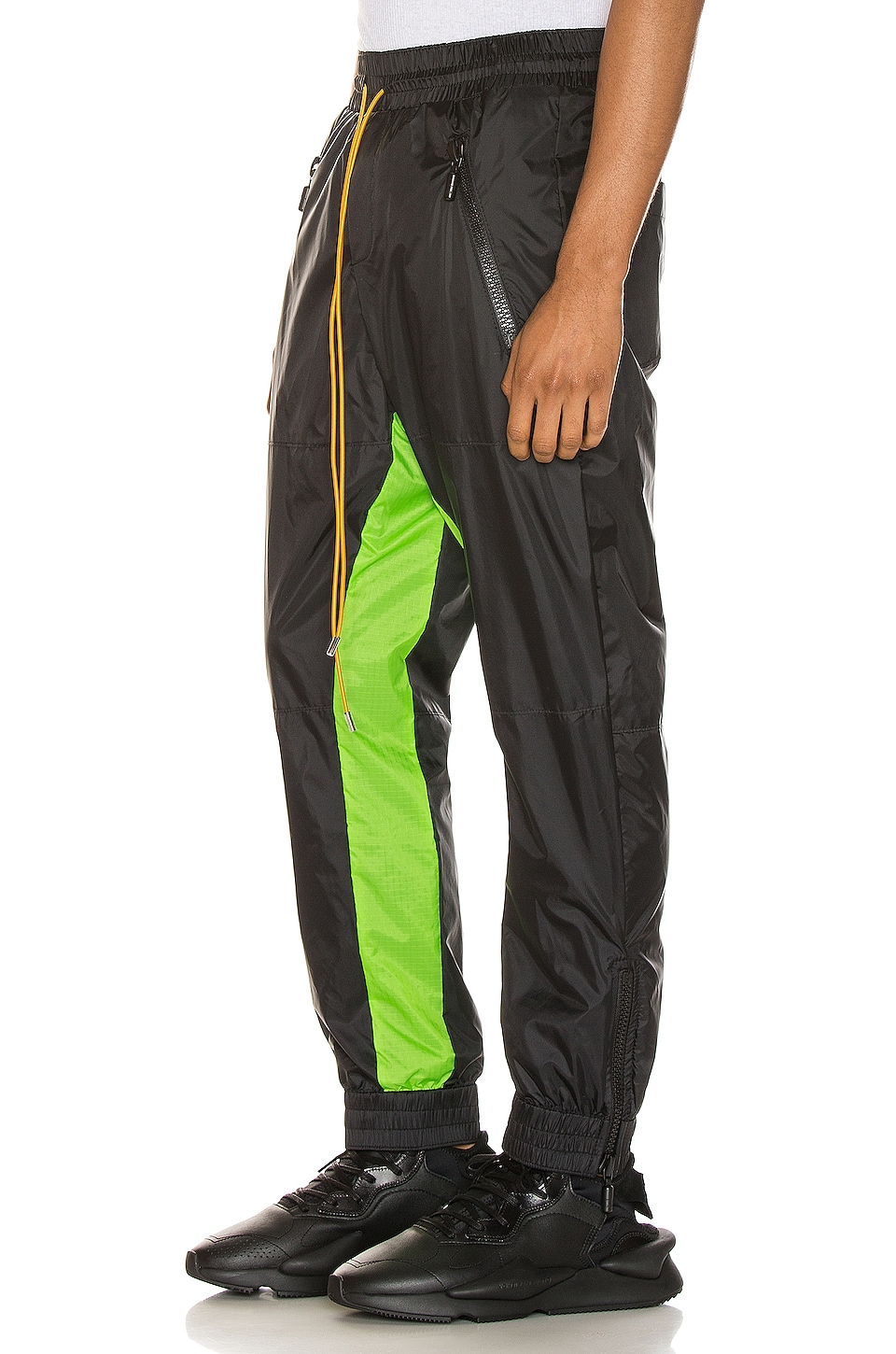 Rhude Flight Suit Pant in Black & Neon Green