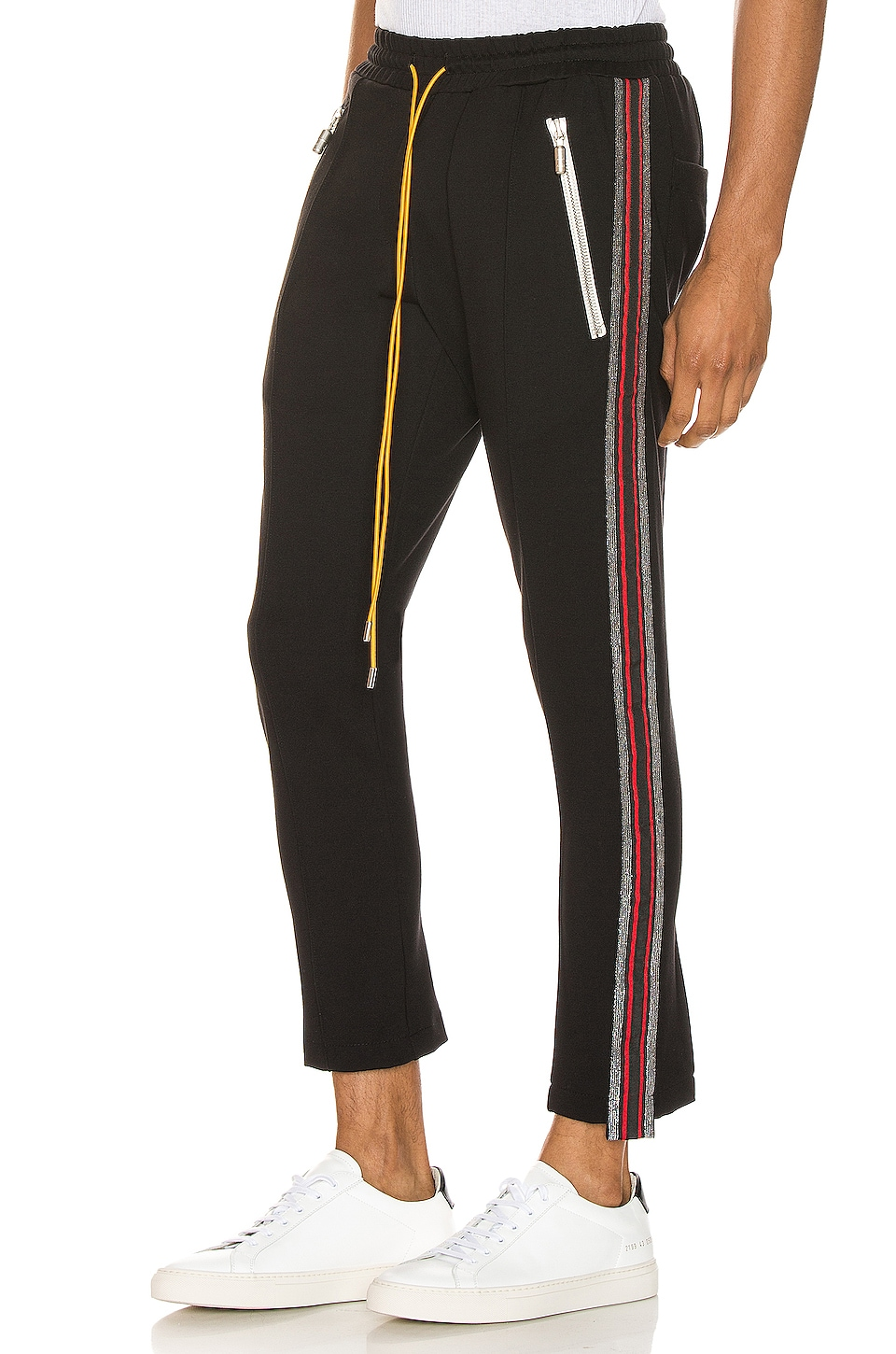 Rhude Traxedo Pant in Black & Red