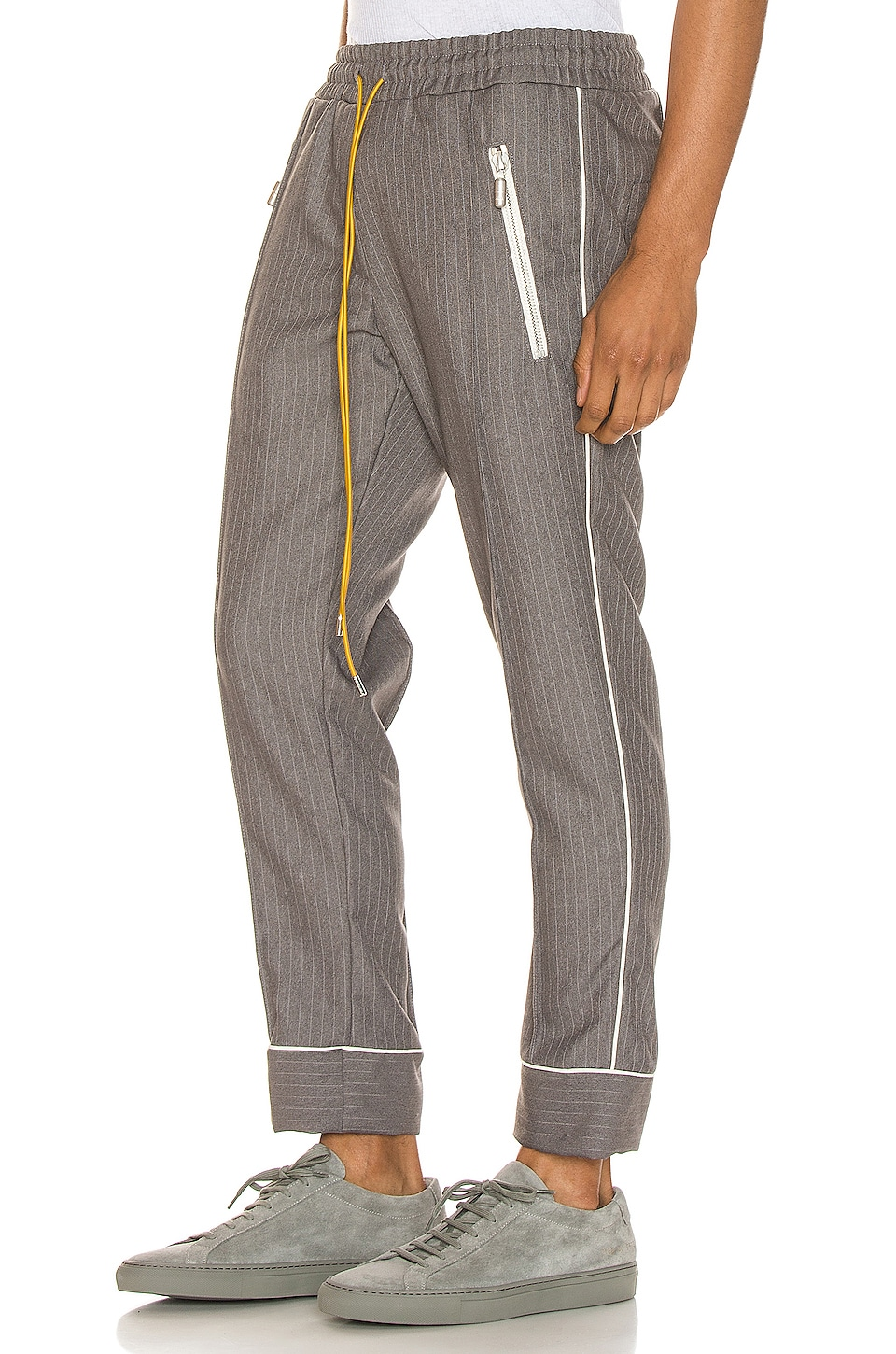 Rhude Smoking Pant in Grey & White