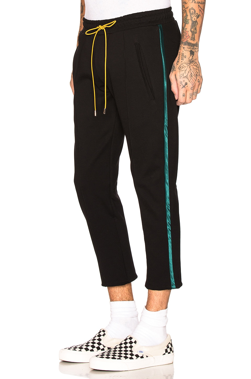 Rhude Traxedo Pant in Black & Green