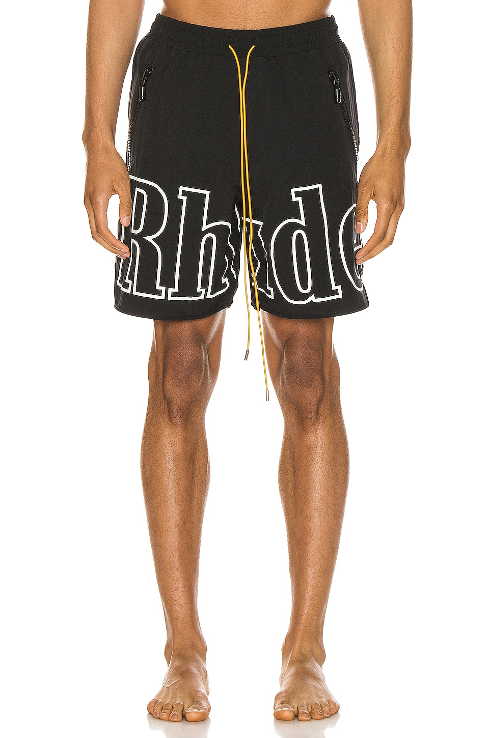 Rhude Swim Trunk in Black & White