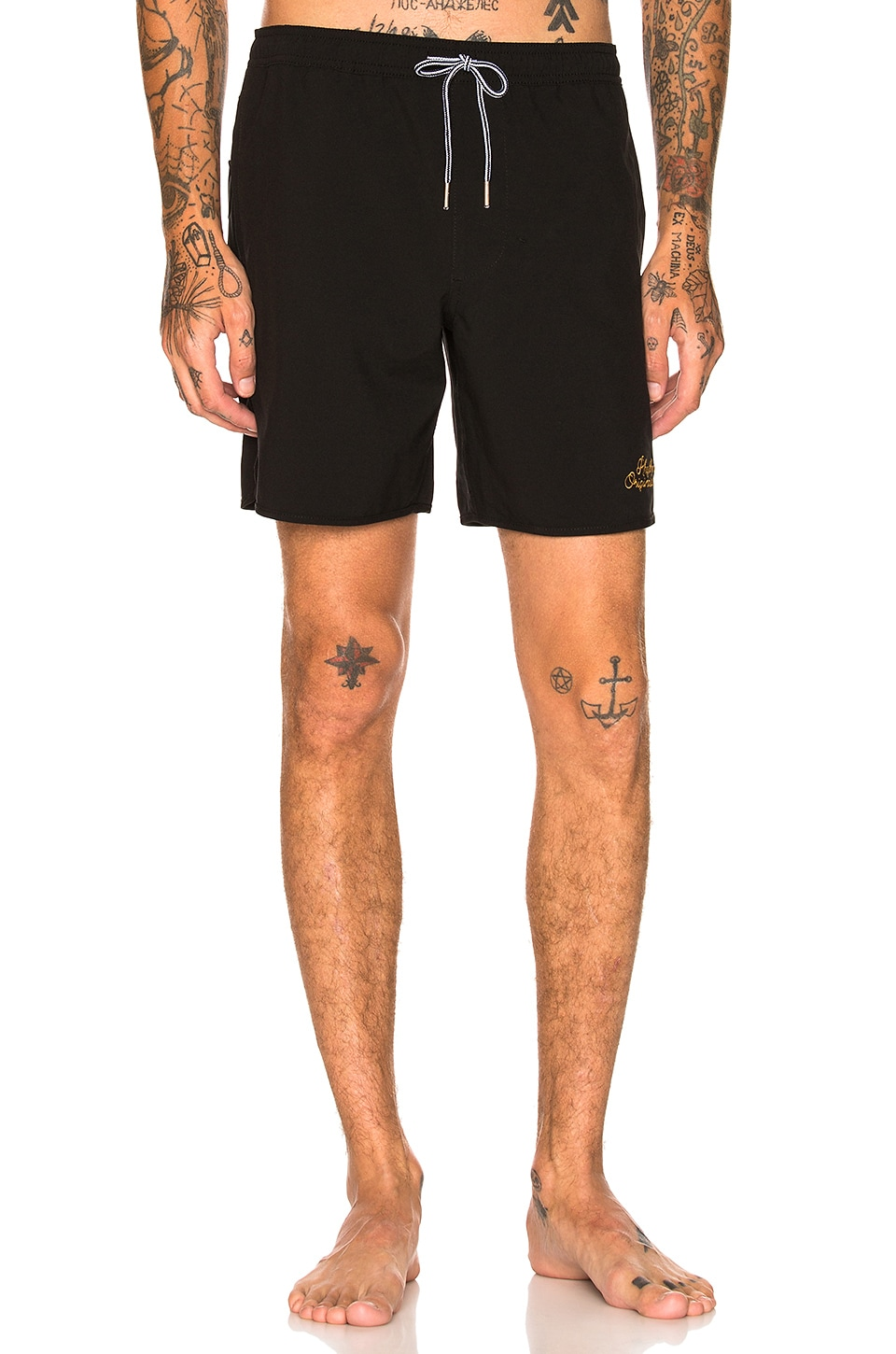 Rhythm Black Label Beach Short in Black