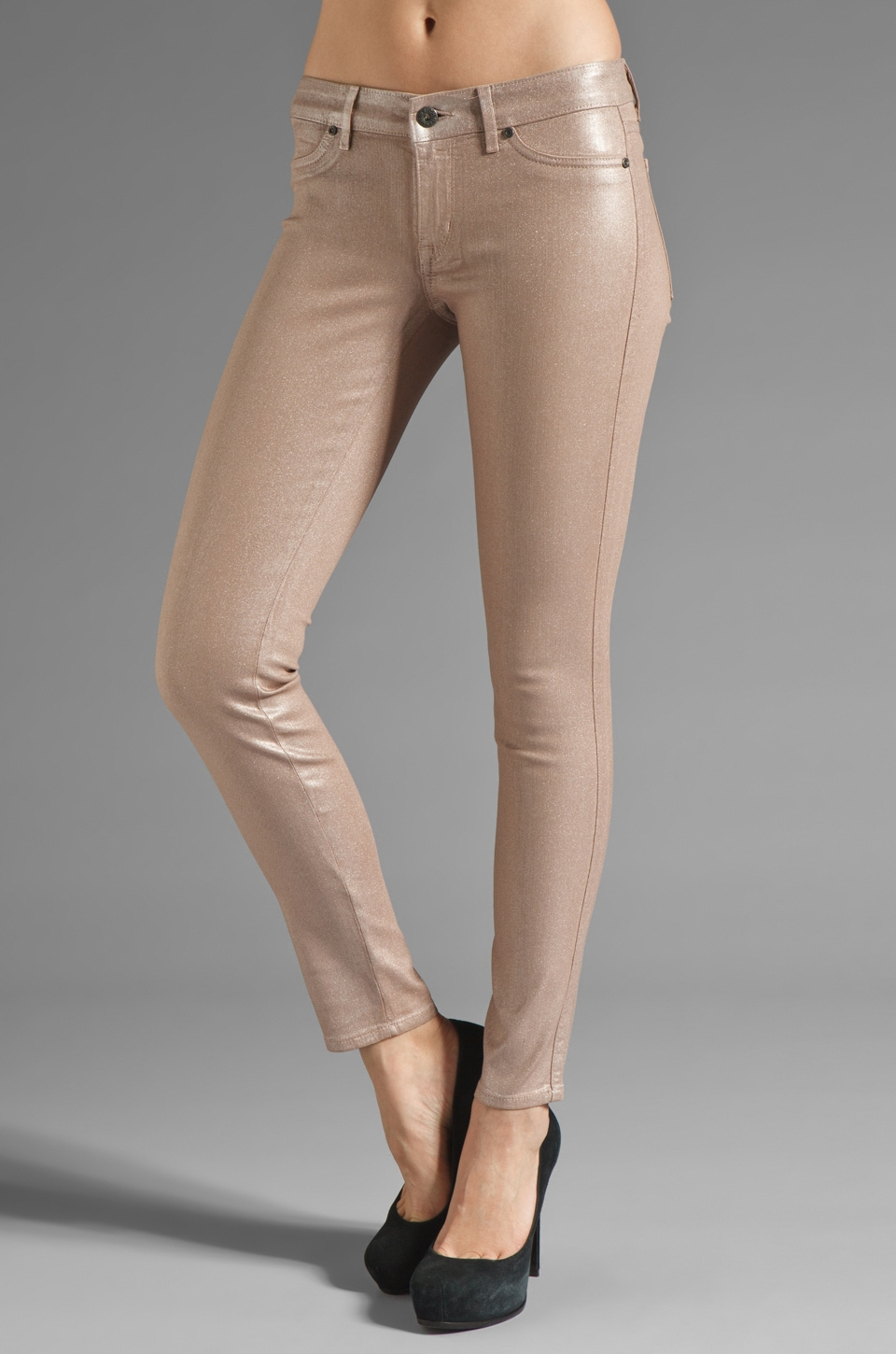 Rich & Skinny Legacy Sparkle Metallic Skinny en Barbie