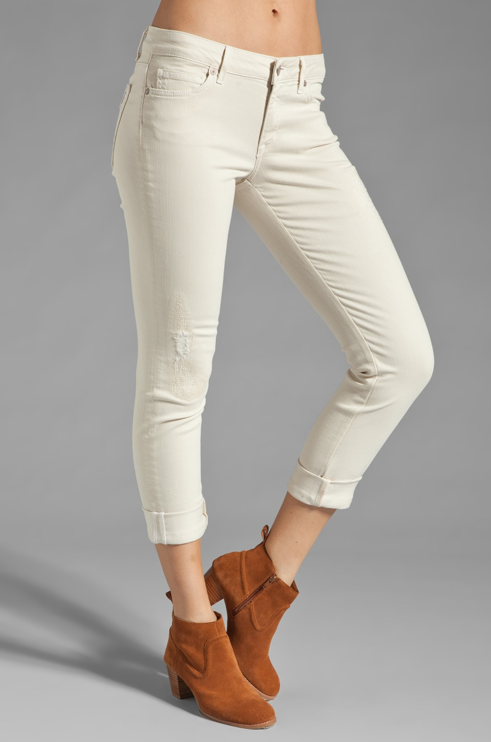 Rich & Skinny The Ankle Roll Crop in Vale