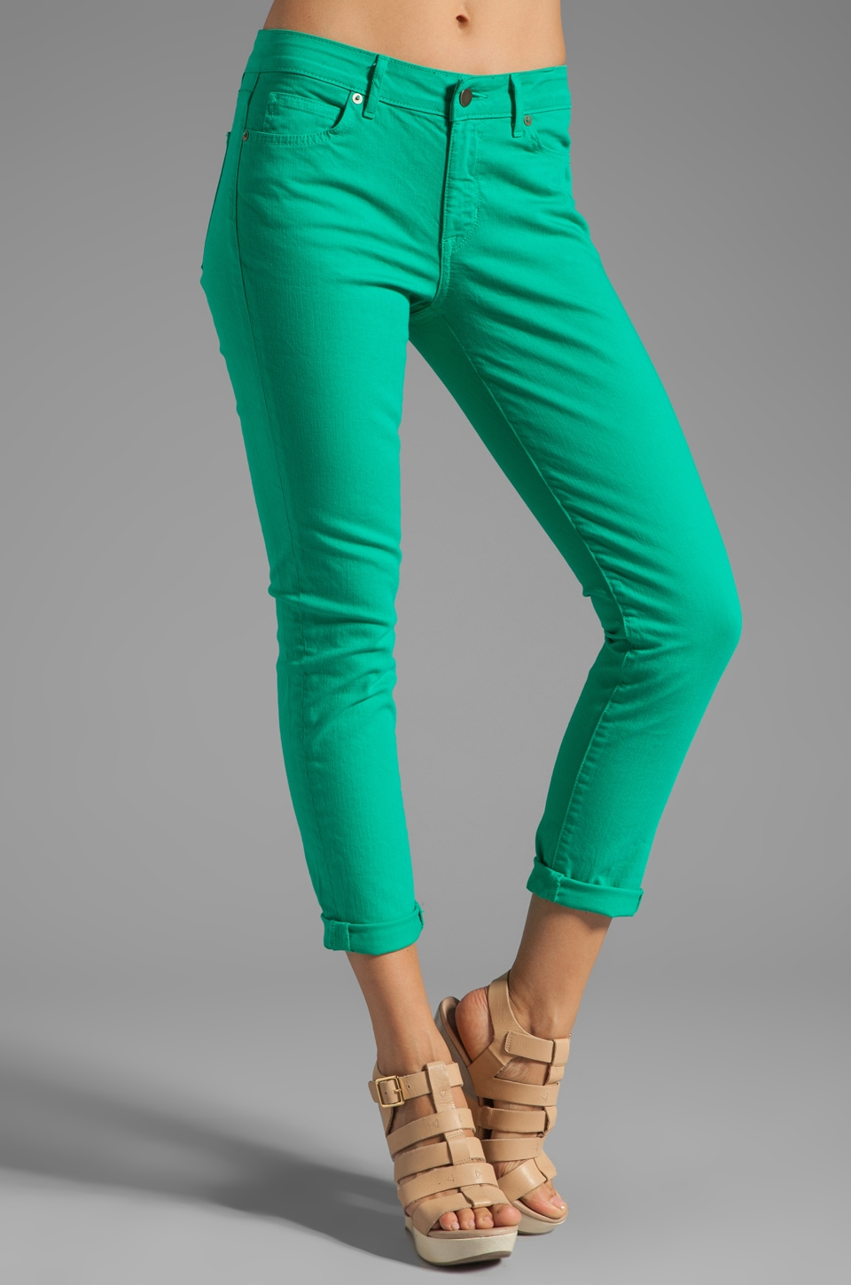 Rich & Skinny Relaxed Ankle Crop in Elf