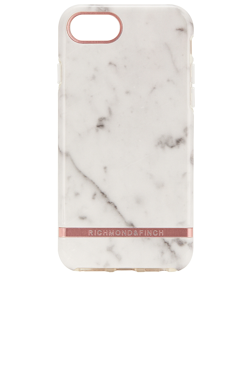 Richmond & Finch White Marble & Rose iPhone 6/7/8 Case in White Marble & Rose
