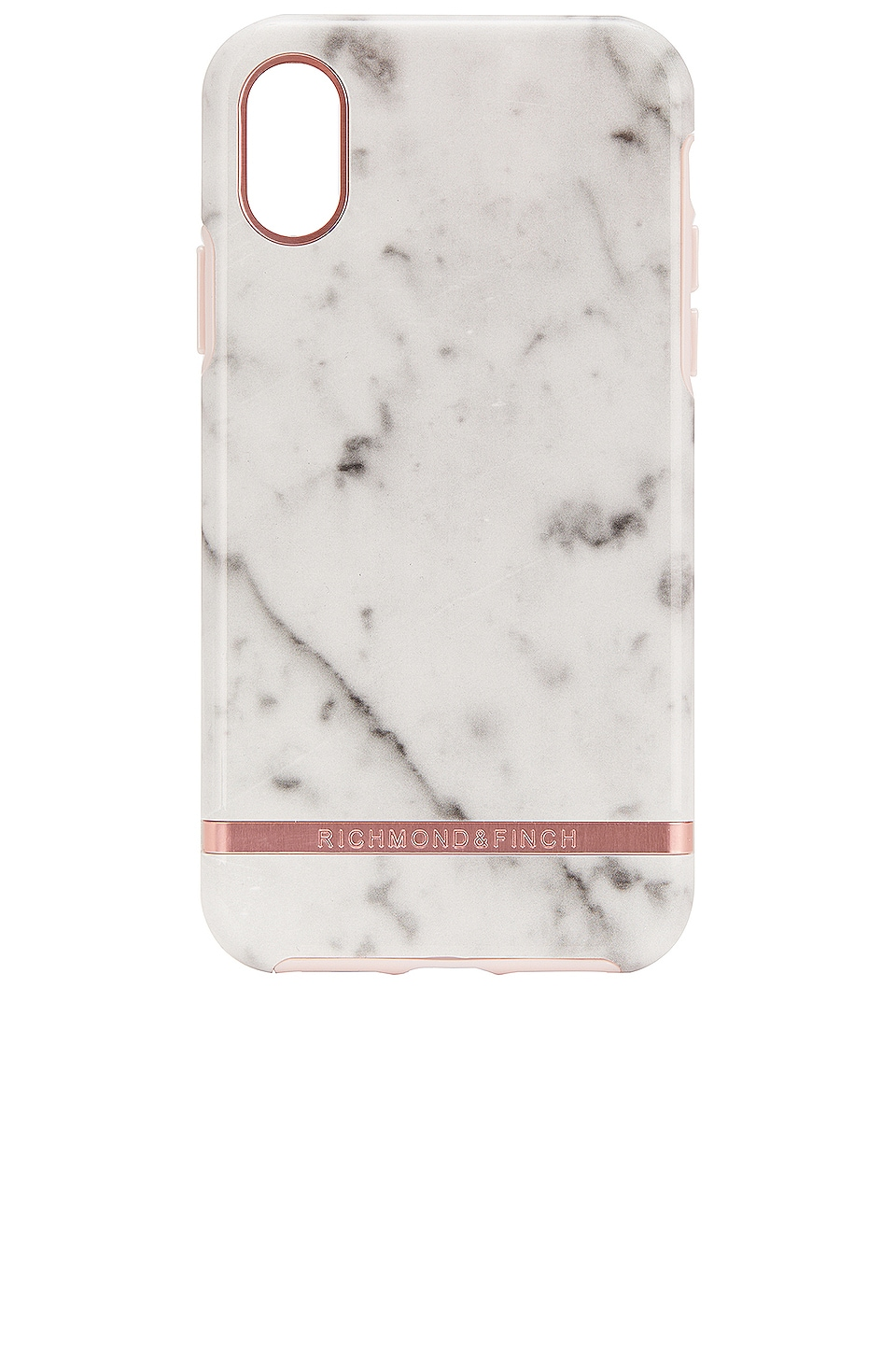 Richmond & Finch White Marble & Rose iPhone X/XS Case in White Marble & Rose