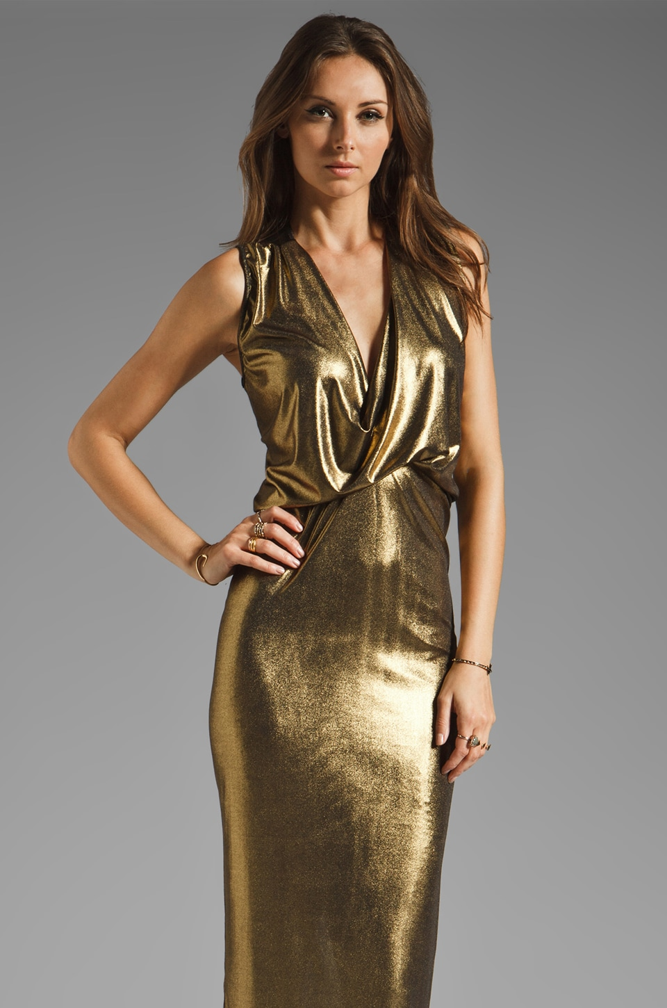 Riller & Fount Pinched Front Maxi in Bronze