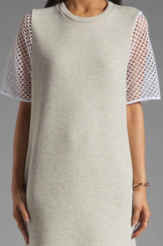 Riller & Fount Yasmin Short Sleeve Tunic in Dove/White Fishnet