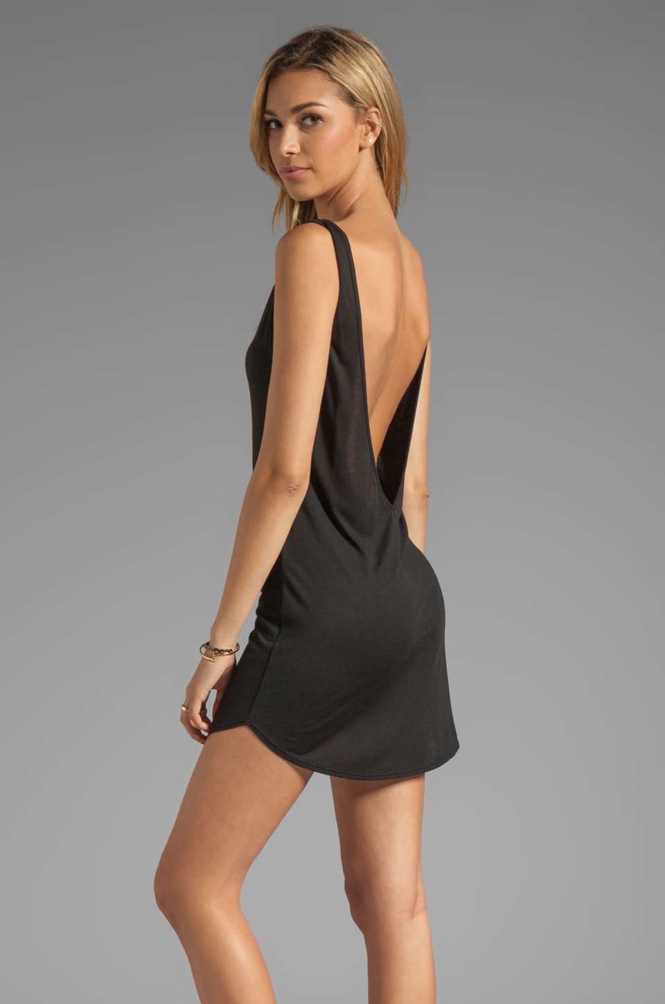 Riller & Fount Gwen Sleeveless V Tunic in Black