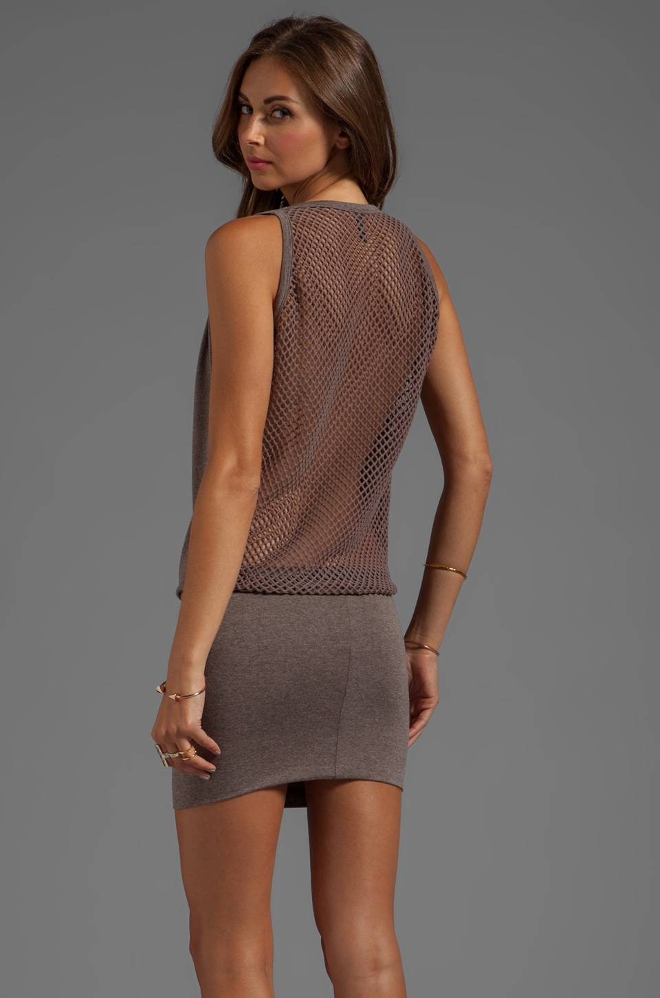 Riller & Fount Jason Fishnet Back Dress in Grantham