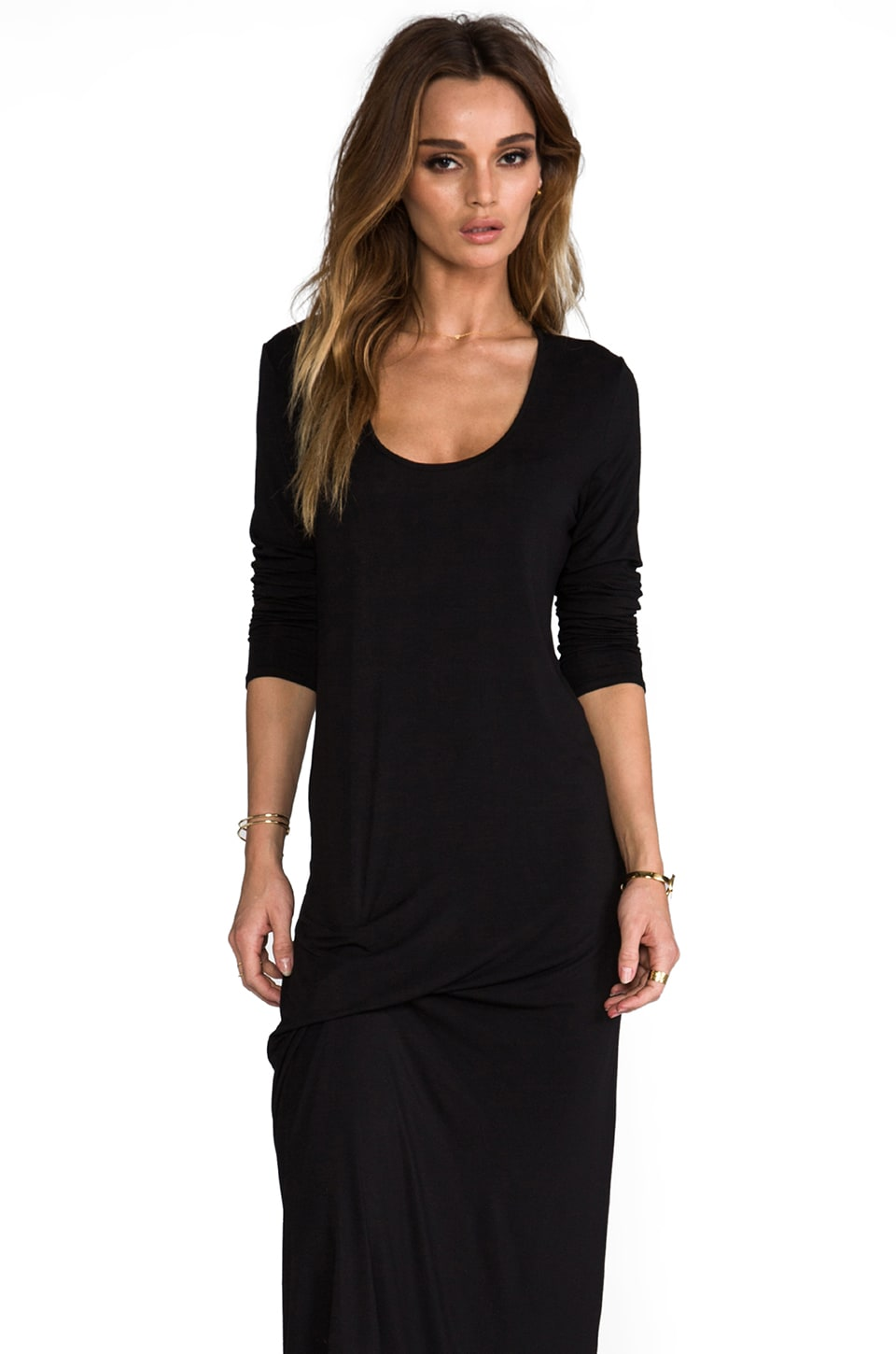 Riller & Fount Niles Pinched Front Dress in Black