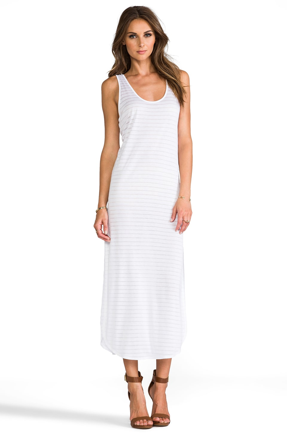 Riller & Fount Keith Scoop Neck Maxi in White Stripe