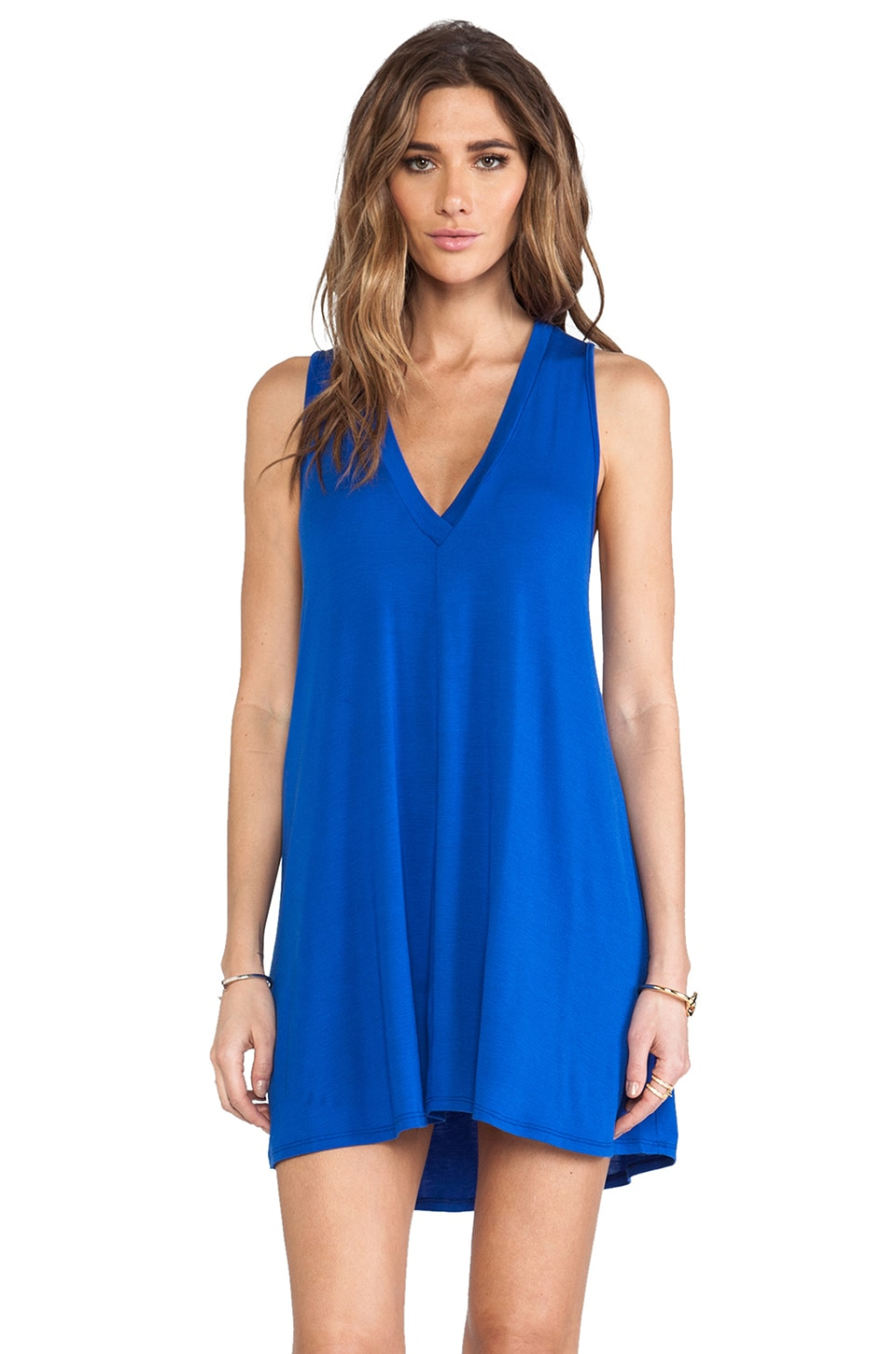 Riller & Fount Guy Dress in Techno Blue