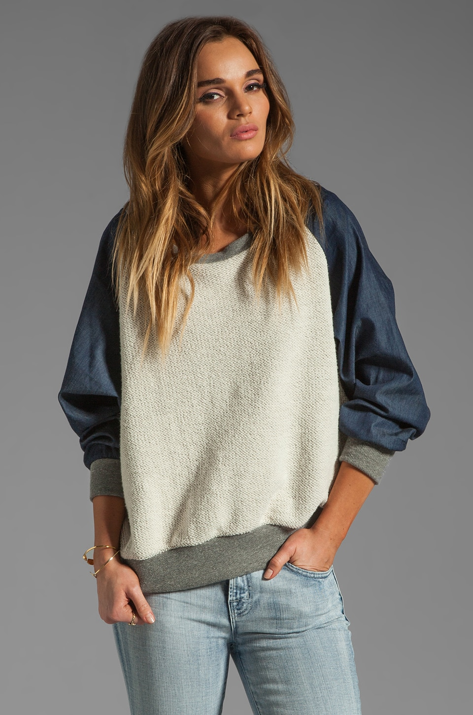 Riller & Fount Angelika Raglan Sweatshirt in Uptown/Flint