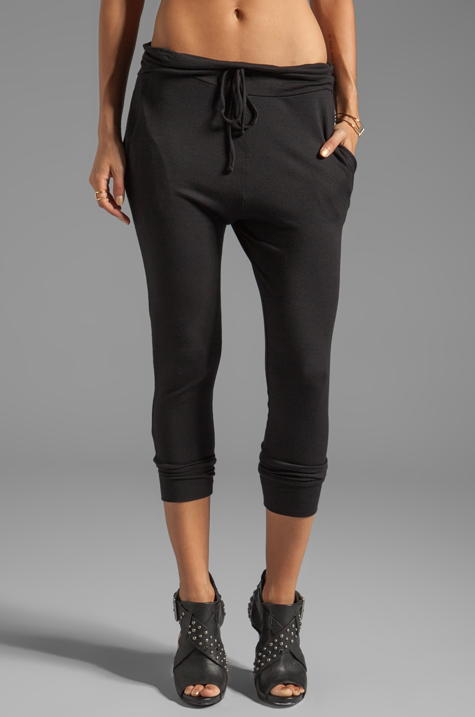 Riller & Fount Bruce Lounge Pant in Black French Terry