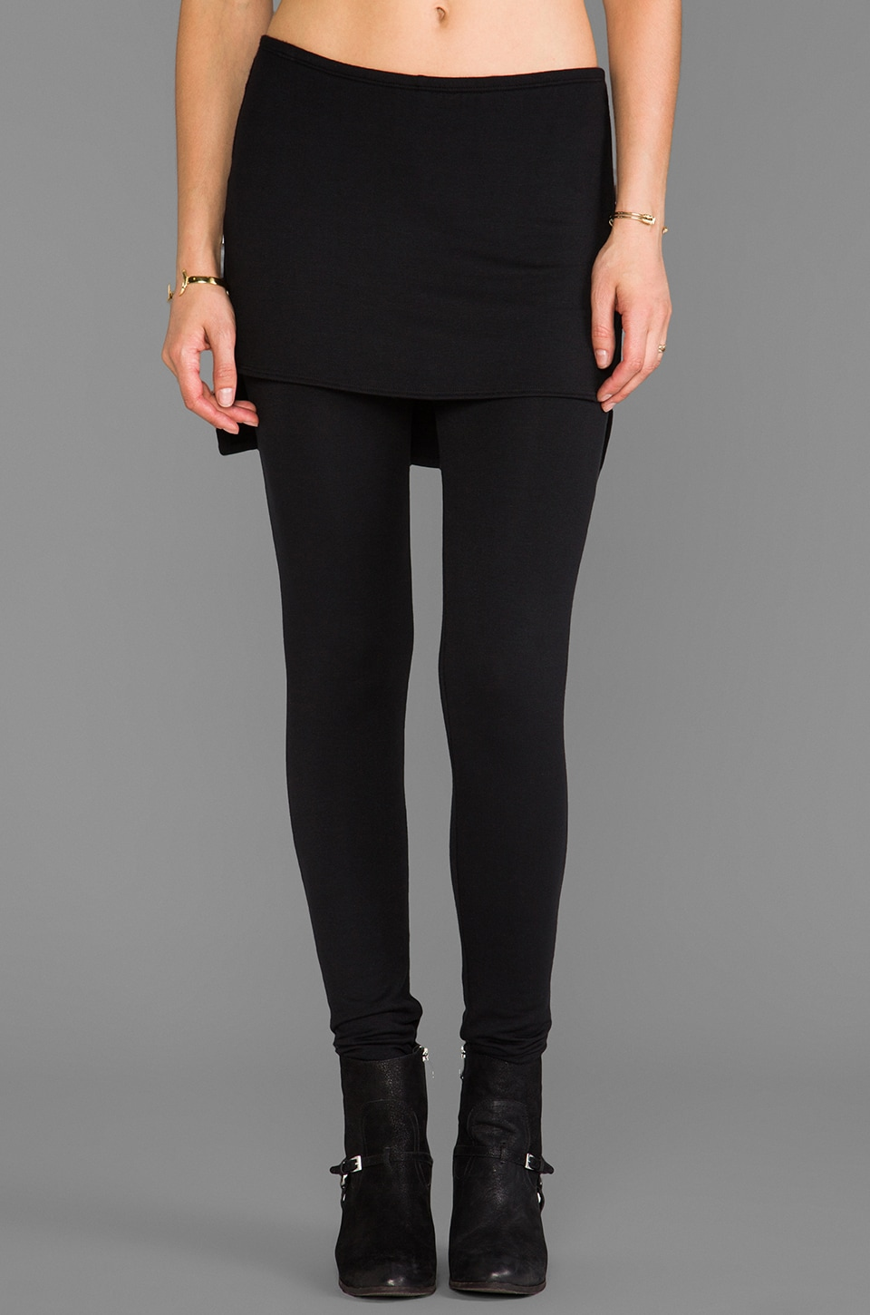 Riller & Fount Max High-Low Skirt Legging in Black