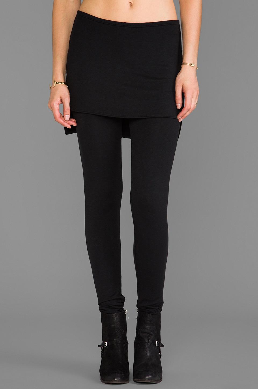 Riller & Fount Max High-Low Skirt Legging in Black