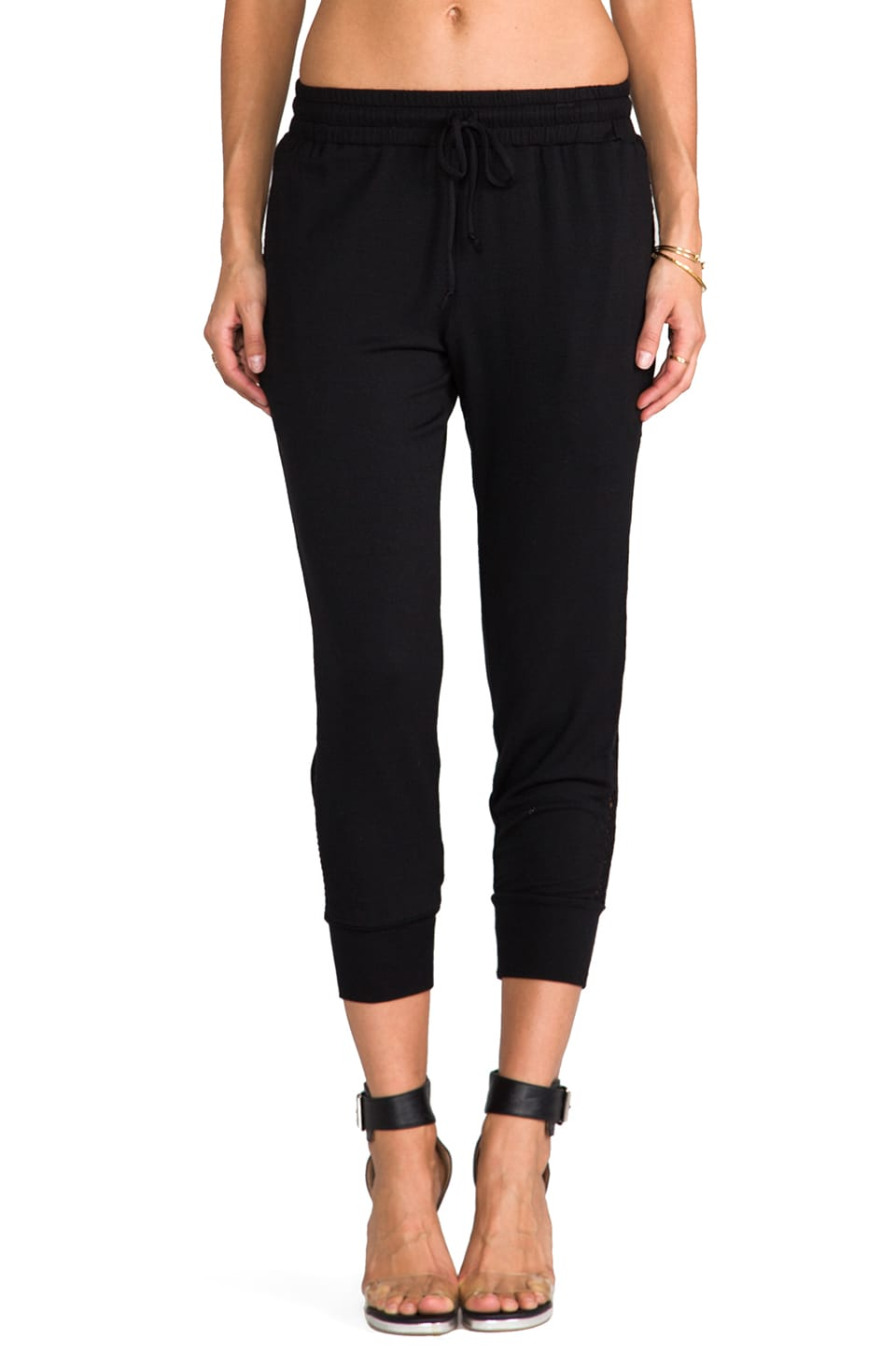 Riller & Fount Cooper Mesh Pant in Black