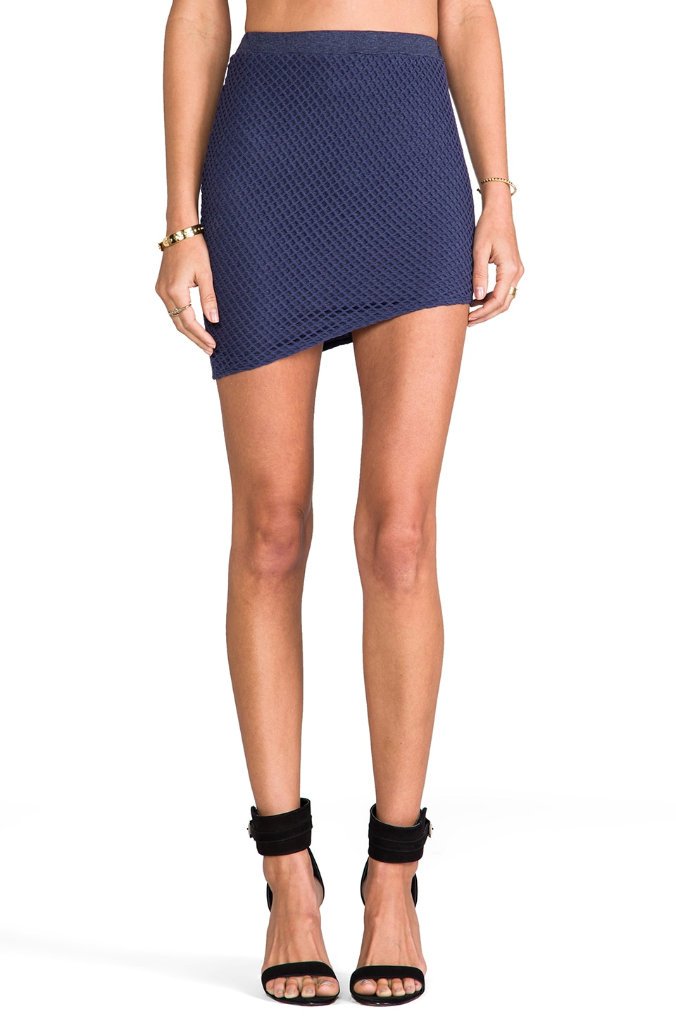 Riller & Fount Larry Fishnet Mini Skirt in Jax