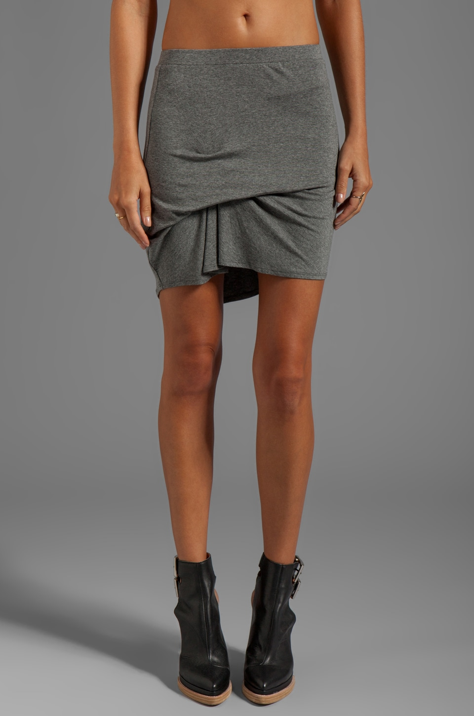 Riller & Fount Bill Pinched Front Mini Skirt in Heather Ash