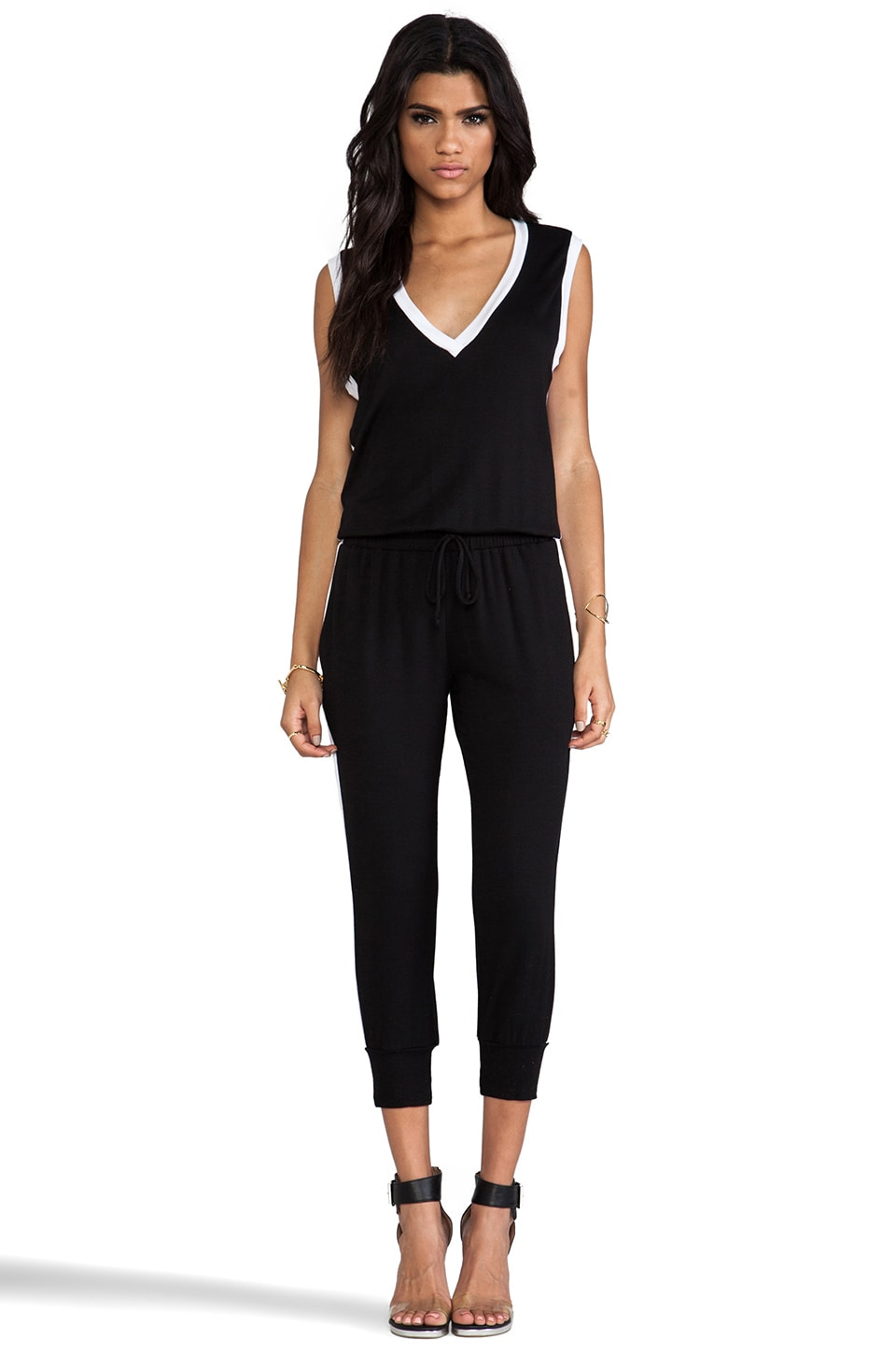Riller & Fount Danny Jumpsuit in Black & White
