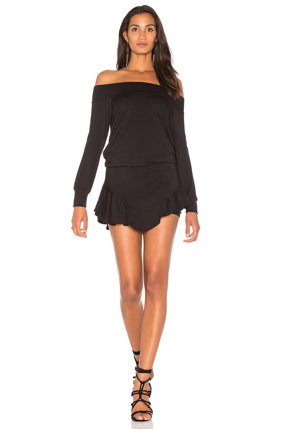Riller & Fount Bertie Romper in Black French Terry