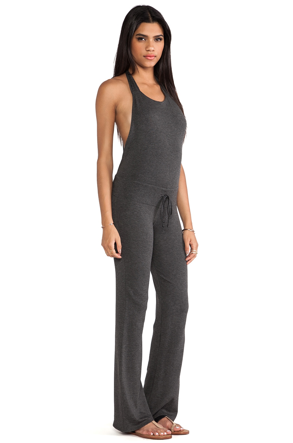 Riller & Fount Nadja Halter Boot Cut Jumpsuit in Stud