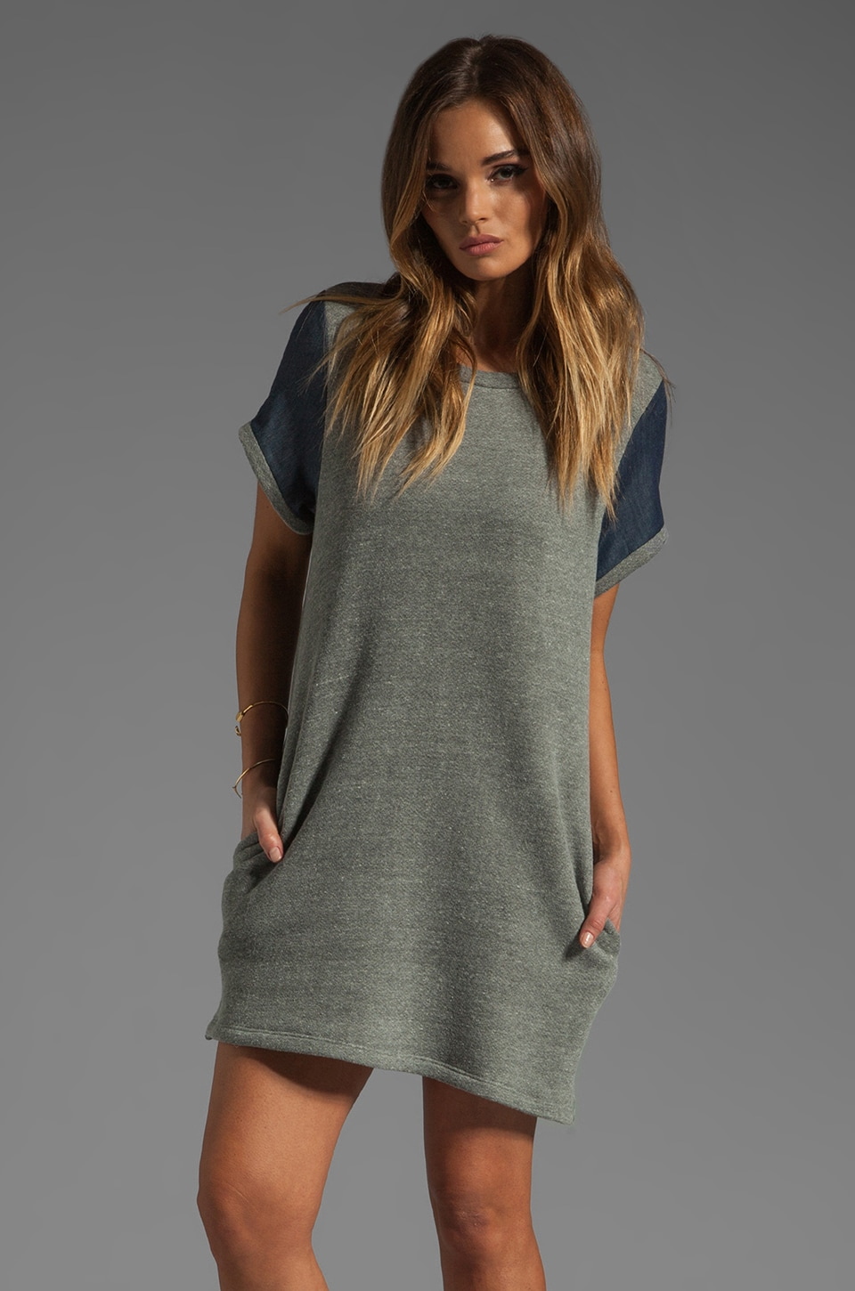 Riller & Fount Roberta Short Sleeve Tunic in Flint/Uptown