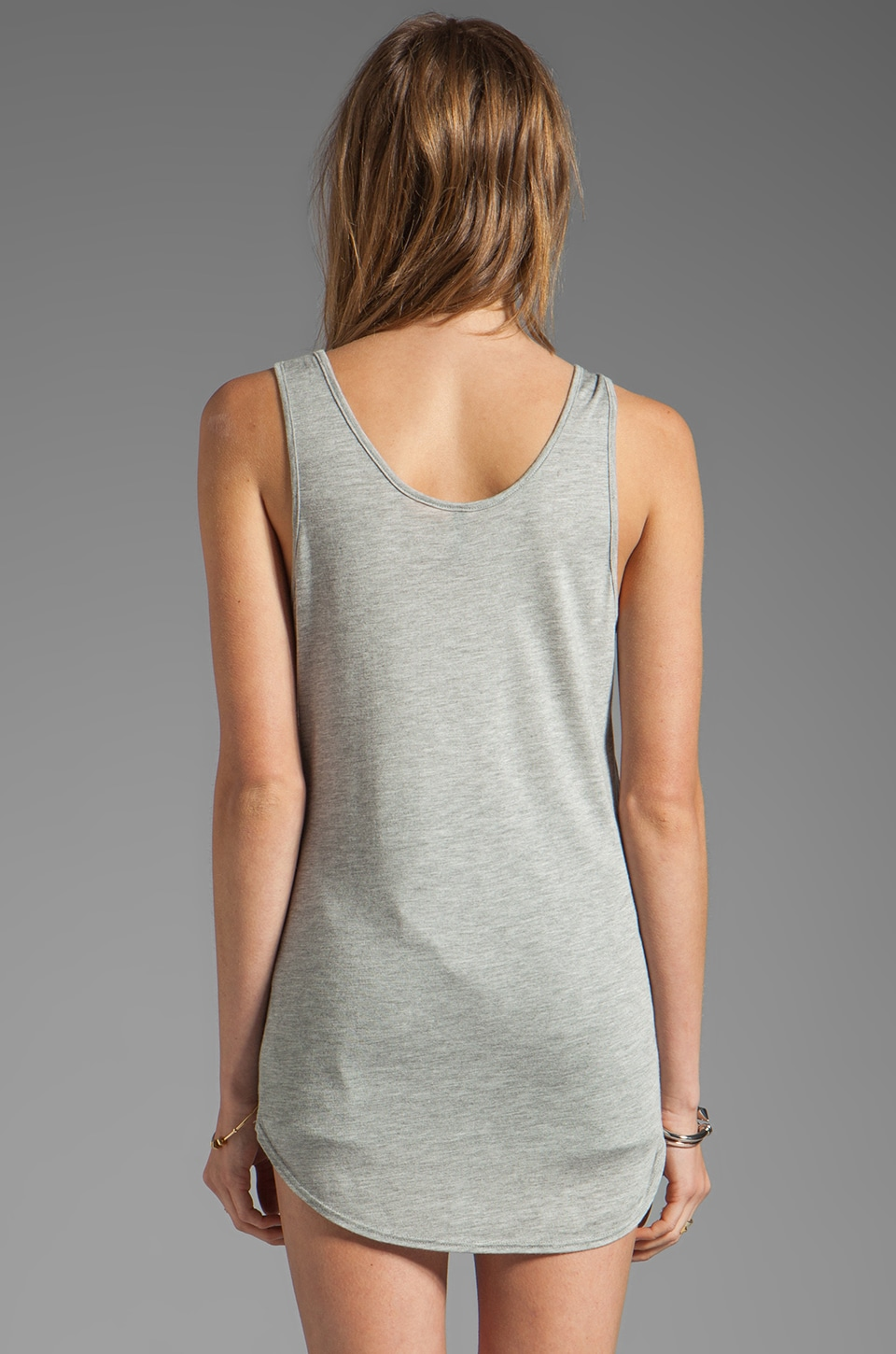 Riller & Fount Khia Loose V-Neck Tank in Heather Grey